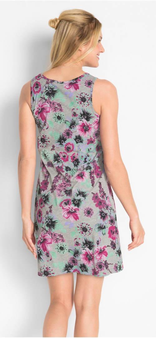 Krátké letní šaty pro plnoštíhlé