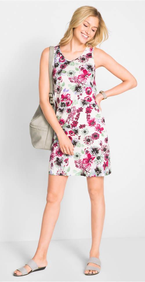 Lehounké letní květinové šaty
