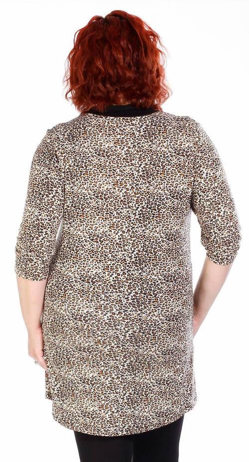 Leopardí tunika pro plnoštíhlé