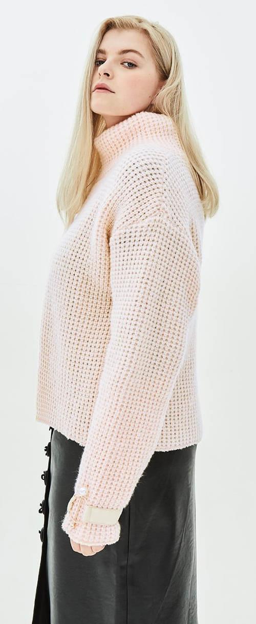 Teplý dámský pletený svetr