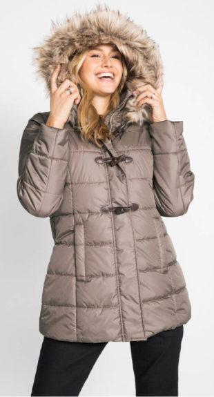 Dámská bunda s kapucí a knoflíky na poutka