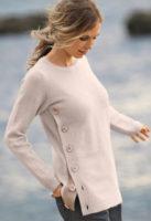 Dámský svetr s knoflíky na boku