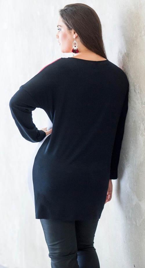 Dlouhá dámská zimní tunika