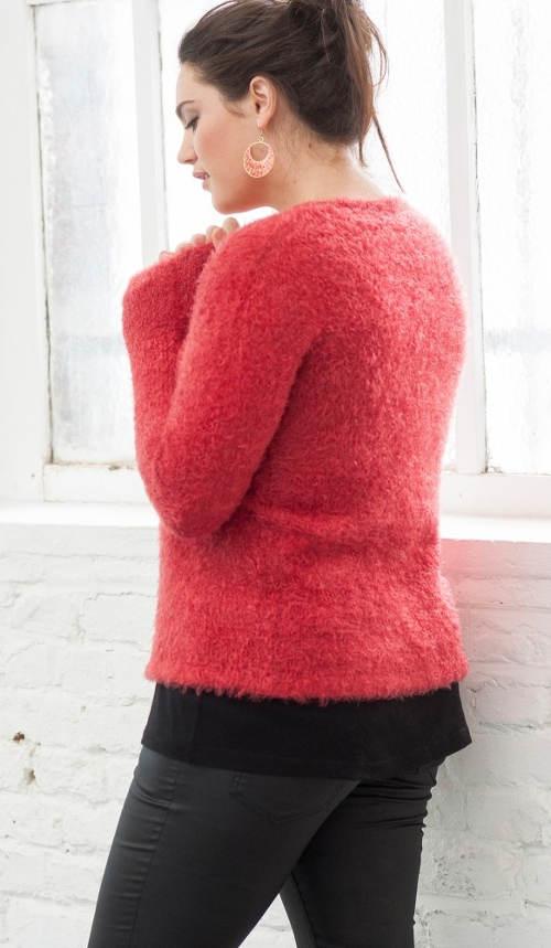 Hebounký dámský zimní svetr