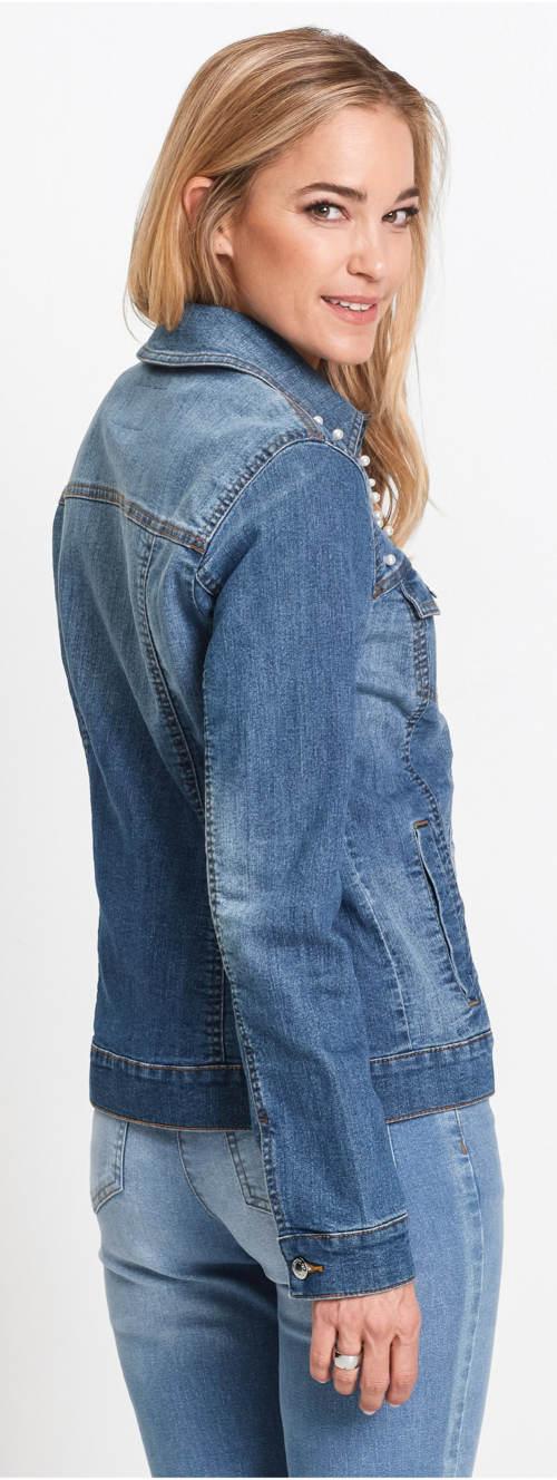Lehká dámská jeansová bunda