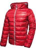 Lesklá prošívaná červená bunda