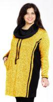 Mikinové šaty ze zatepleného úpletu