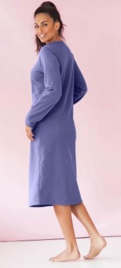 Modrá zimní noční košile