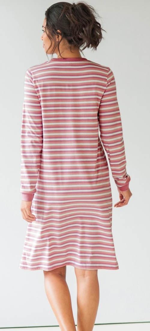 Pohodlná noční košilka s dlouhými rukávy