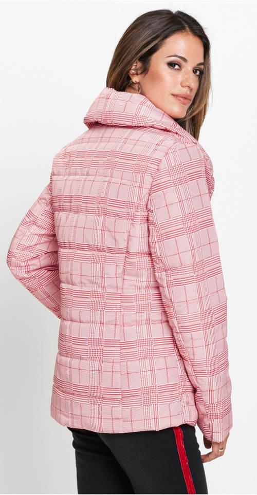 Růžová dámská zimní bunda