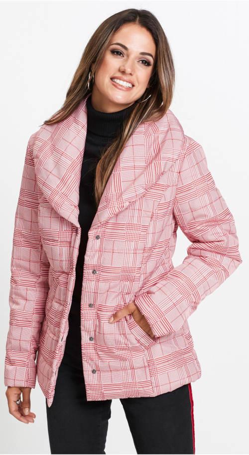 Růžová prošívaná dámská bunda Glenček