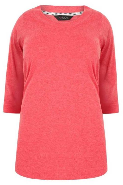 Růžové dámské těhotenské tričko