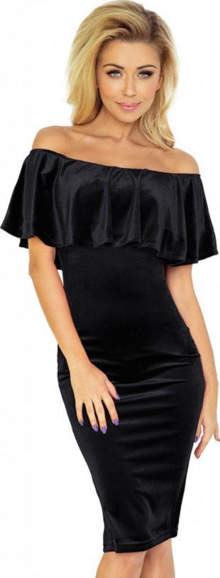 Společenské šaty s velkým trendy volánem