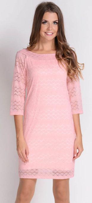 Volné krajkové šaty s látkovou podšívkou
