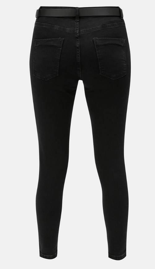 Zeštíhlující černé skinny džíny