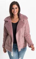 Zimní dámská bunda z umělé kůže