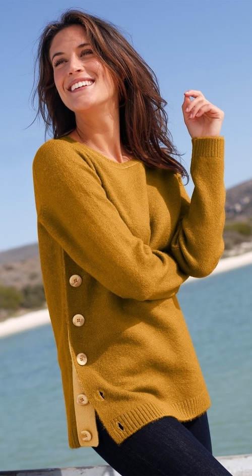 Zlatý dámský svetr