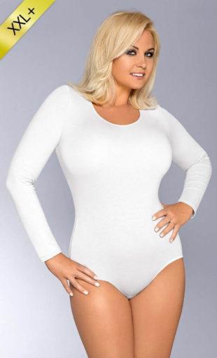 Bílé bavlněné dámské zimní body
