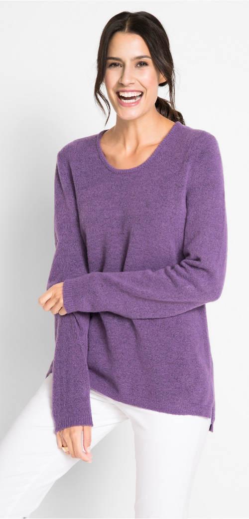 Hebounký flaušový dámský svetr