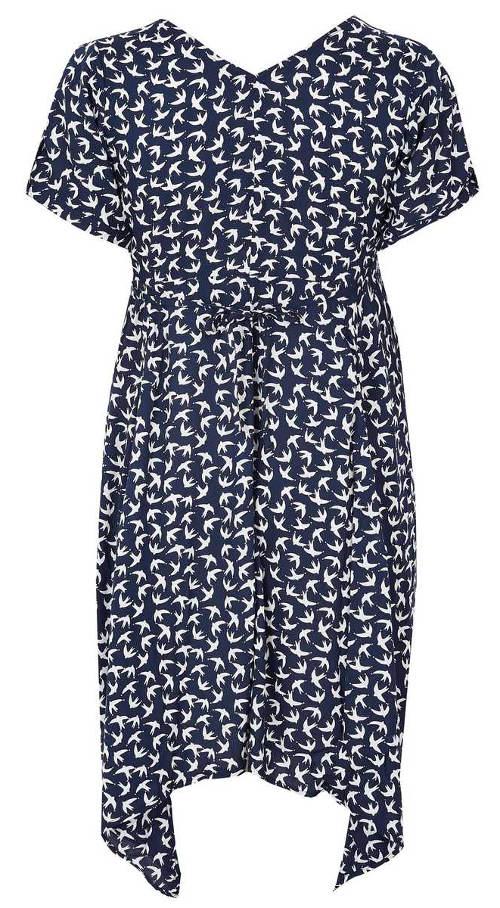 Modré asymetrické šaty nadměrných velikostí f9b8dcea08