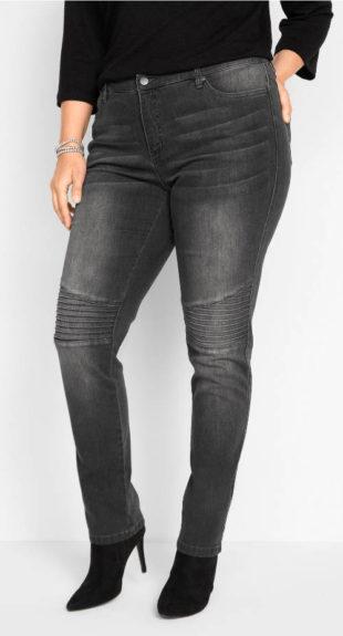 Motorkářské džíny pro plnoštíhlé