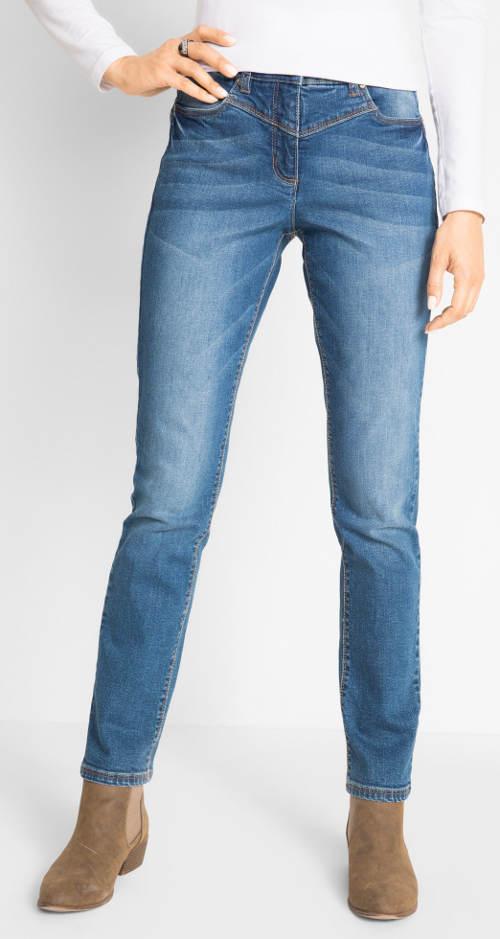Stahovací riflové kalhoty pro široká stehna