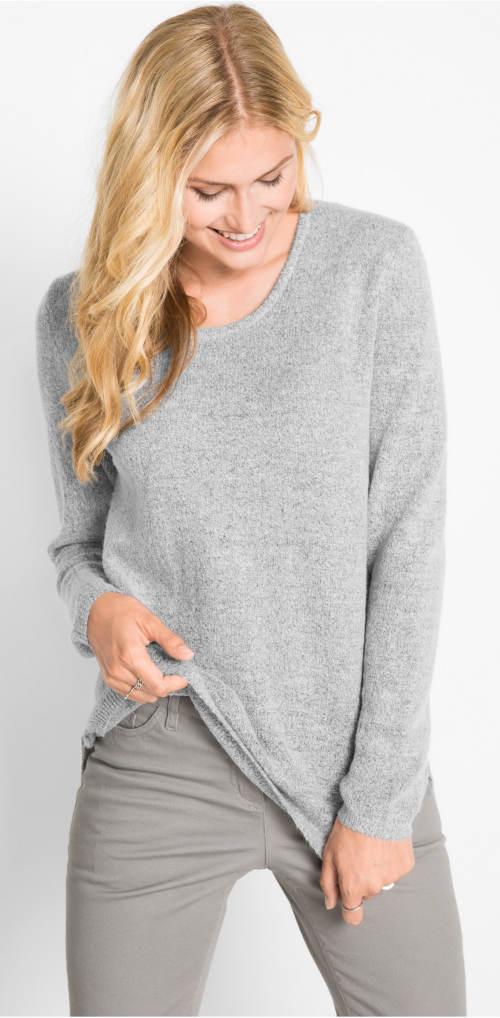 Stříbrný dámský svetr