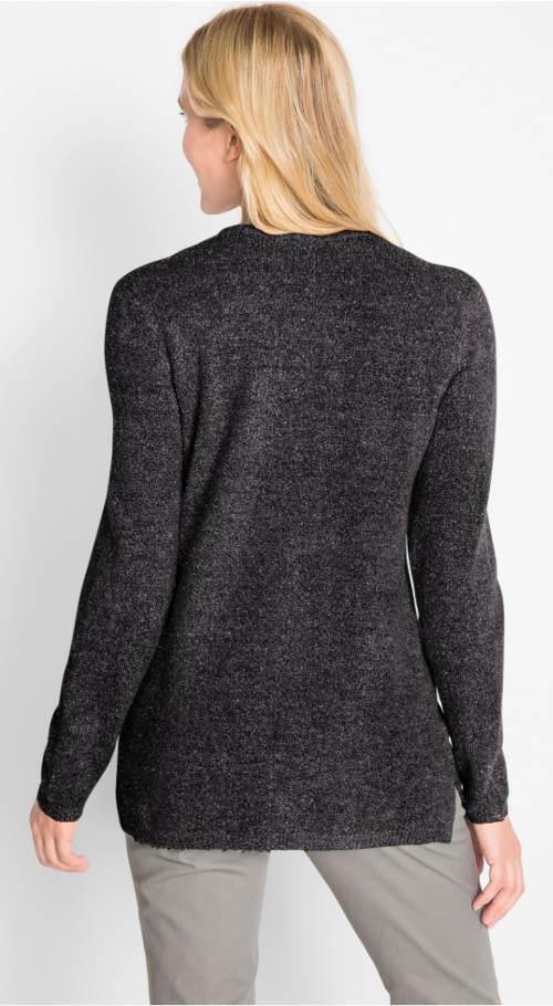 Třpytivý černý svetr