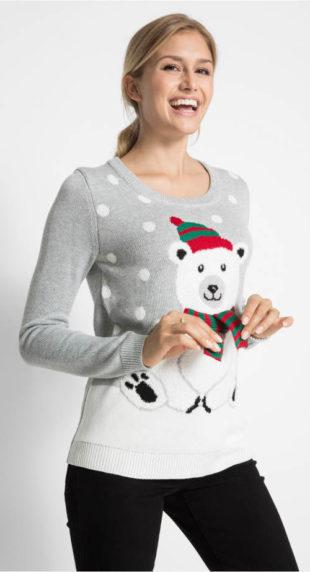 Vánoční svetr s medvídkem