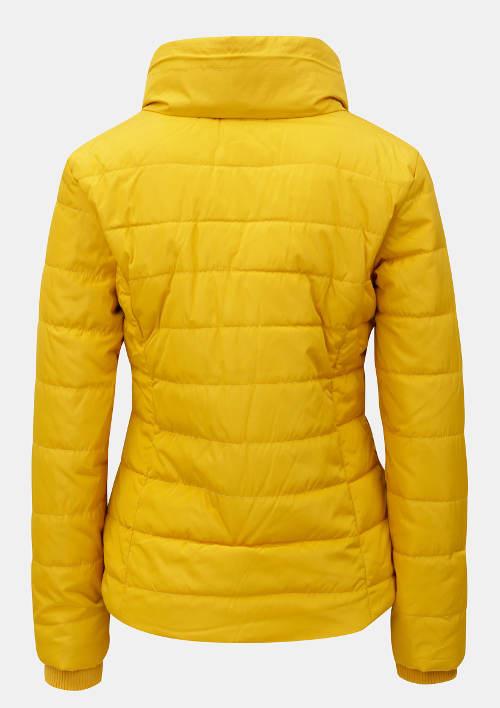 Zářivě žlutá dámská zimní bunda