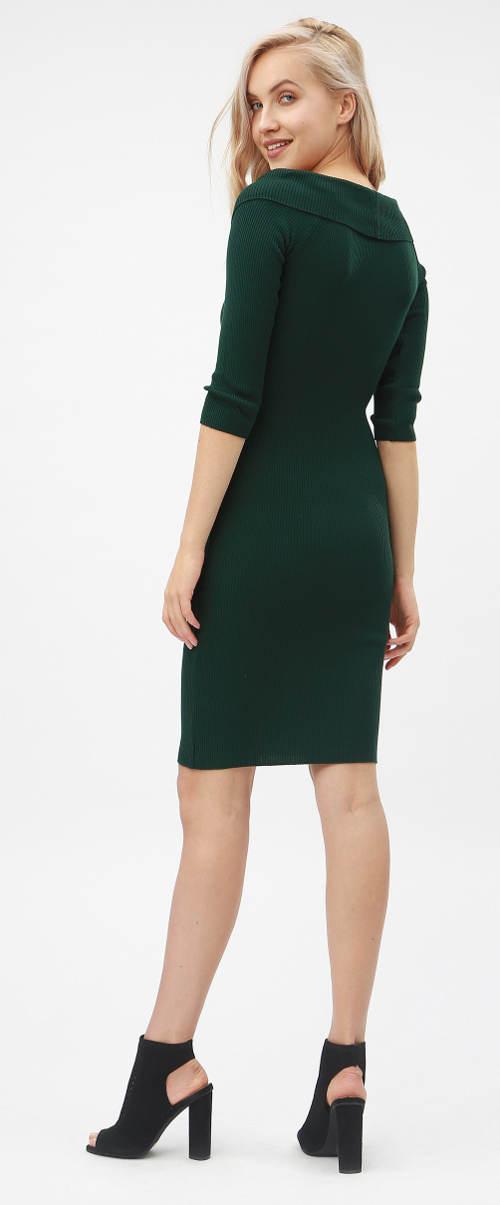 Zelené podzimní dámské šaty