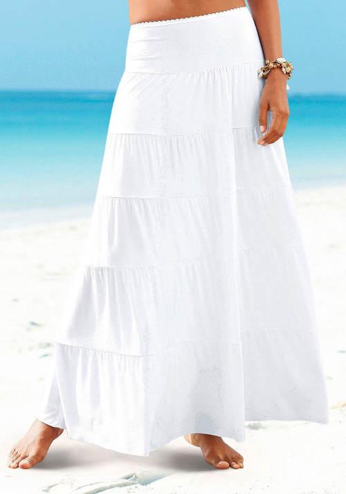 Bílá plážová sukně