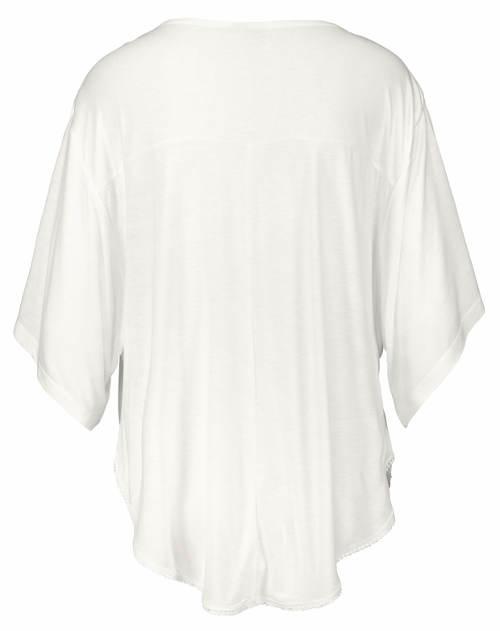 Bílé dámské kimono tričko