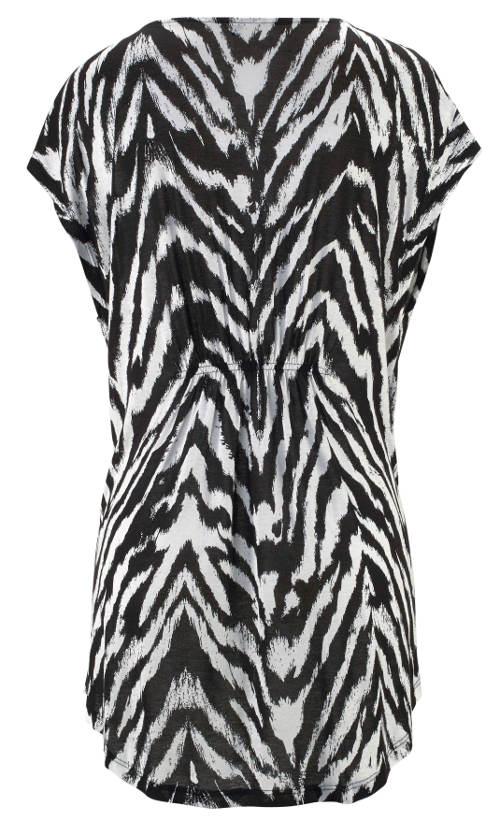 Černobílé zebrované tričko
