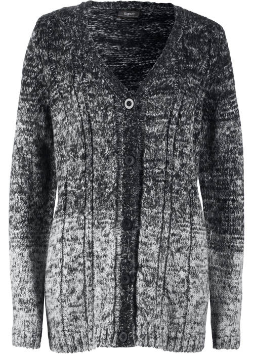 Černobílý pletený dámský svetr
