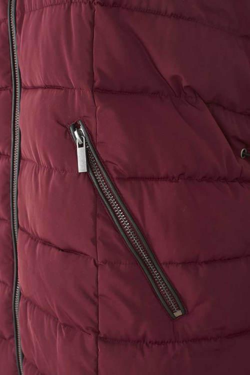 Dámská zimní vesta s kapsami na zip