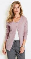 Pletený svetrový kabátek pro plnoštíhlé