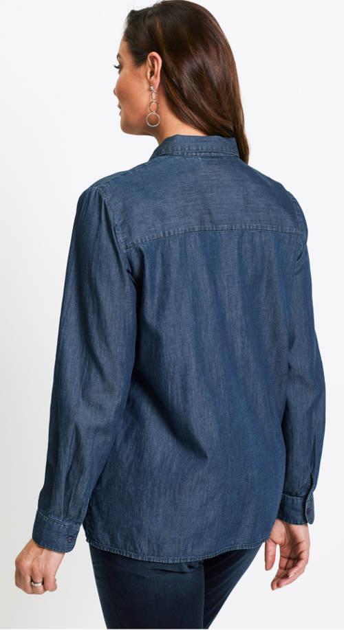 Tmavě modrá dámská riflová košile