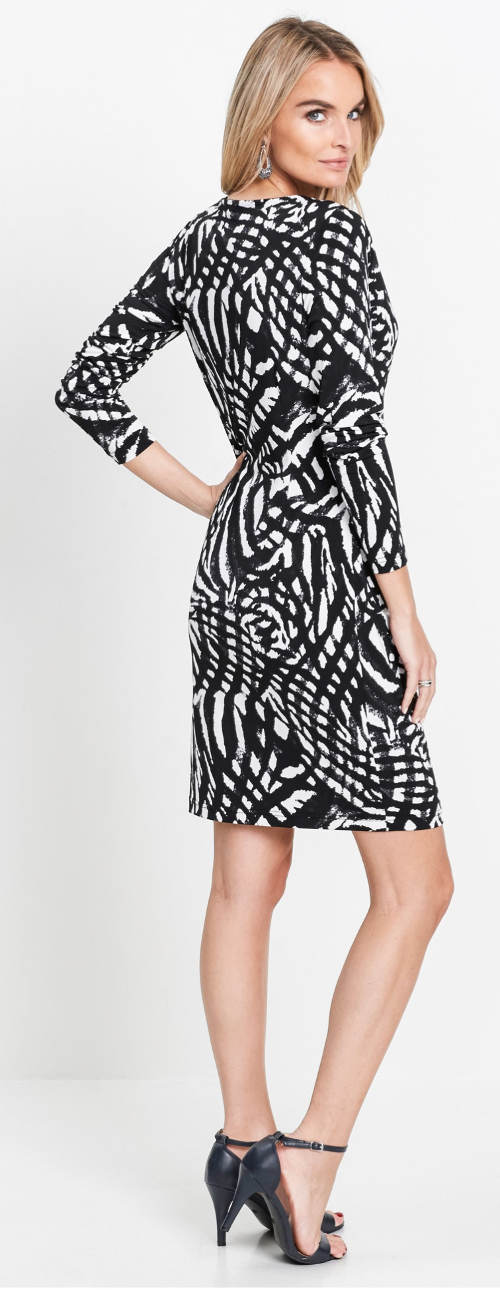 Černobílé společenské šaty pro starší