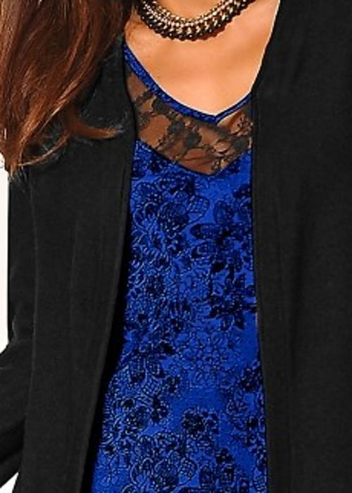 Plesové šaty modrá krajka