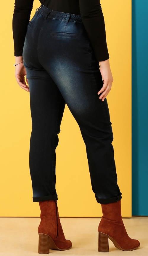 Pružné džíny pro silnější postavu