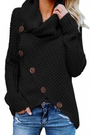 Zavinovací dámský pletený svetr