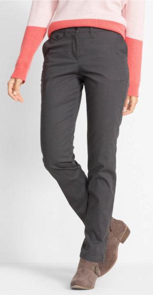Bavlněné dámské plus size chino kalhoty
