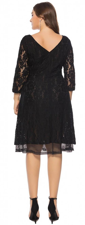 Černé večerní krajkové šaty