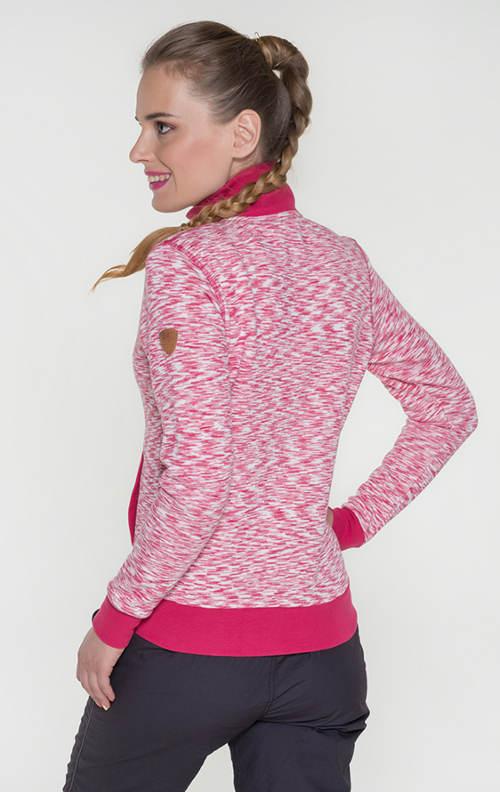 Dámská růžová sportovní mikina