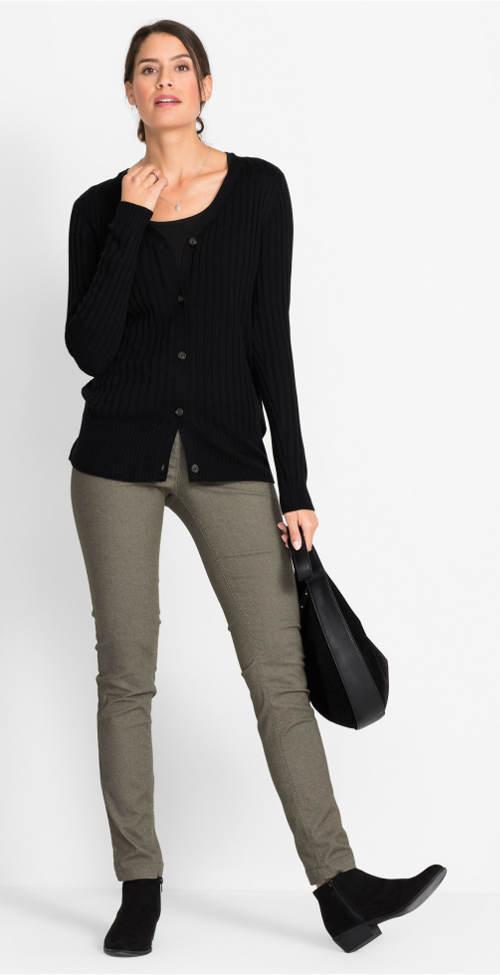 Jarní strečové dámské kalhoty