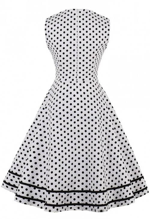 Letní vintage šaty bez rukávů