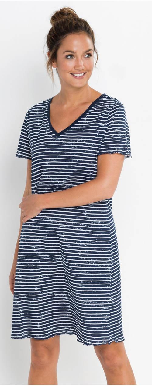 Pruhovaná noční košile od Bonprixu