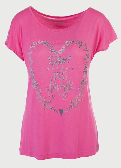Romantické tričko se srdcem