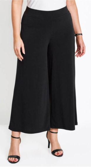 Široké dámské kalhoty na gumu v pase
